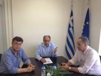 Συνάντηση του Περιφερειάρχη Απ. Κατσιφάρα με τον Δήμαρχο Ακτίου – Βόνιτσας Γ. Αποστολάκη