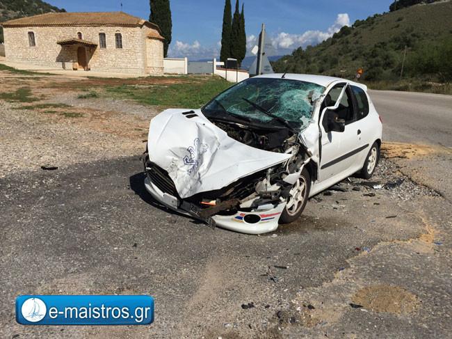 Τροχαίο ατύχημα με ζευγάρι από το Αγρίνιο στην Αμφιλοχία