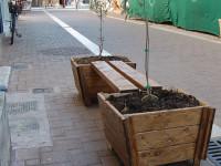 Τοποθέτηση ξύλινων πλαισίων φύτευσης