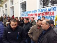 Συγκέντρωση των  αγροτοκτηνοτρόφων  στην Τράπεζα Πειραιώς στη Βόνιτσα