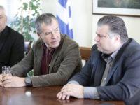 Συνάντηση με τον δήμαρχο Μεσολογγίου Νίκο Καραπάνο.