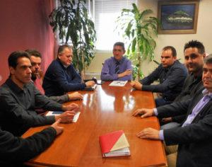 Συνάντηση του Γρ. Αλεξόπουλου με την Ένωση Αστυνομικών Υπαλλήλων Αχαΐας.
