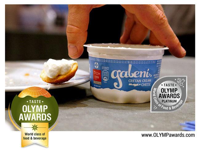 Πλατινένιο βραβείο στα Olymp Awards 2017 για το Κρητικό κρεμώδες τυρί Γαλένι