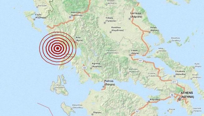 Ισχυρή σεισμική δόνηση 5,2 στην Πρέβεζα