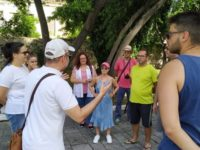 Βιωματική δραστηριότητα σπουδαστών στον Κήπο των Ηρώων