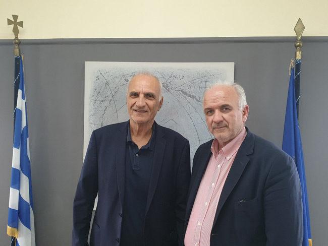 Συνάντηση του Δημάρχου Κώστα Λύρου με τον βουλευτή Αιτωλ/νίας Γ. Βαρεμένο