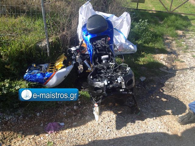 Στο Νοσοκομείο του Ρίου ο διακομίστηκε ο οδηγός της μοτοσικλέτας από το χθεσινό τροχαίο