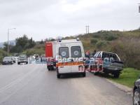 Εκτροπή οχήματος με τραυματισμό στην E.O.