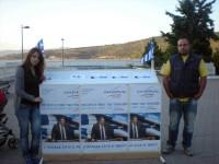 Περίπτερο με ενημερωτικό υλικό των «Ανεξάρτητων Ελλήνων» στην κεντρική πλατεία στην Αμφιλοχία