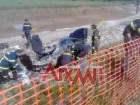 Αυτοκίνητο έπεσε σε χαντάκι εργασιών της Ιόνιας Οδού