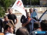 Μαζικό συλλαλητήριο της ΠΑΣΥ στον κόμβο της Αμφιλοχίας