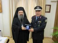 Επίσκεψη του Γ. Π. Αστυνομικού Διευθυντή Δ. Ελλάδας στον Σεβασμιώτατο  Μητροπολίτη Πατρών κ.κ. Χρυσόστομο