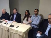 Ο Γιώργος Πεταλωτής εισηγητής στην εκδήλωση του Κινήματος στο Αγρίνιο