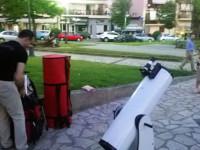 Εξόρμηση με τηλεσκόπια στα τρένα και την Κεντρική Πλατεία Αγρινίου