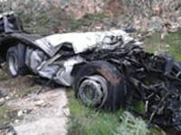 Σοκάρουν οι εικόνες της χθεσινής πτώσης νταλίκας από  γέφυρα 180 μ. στην Θεσπρωτία