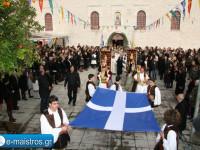 Με λαμπρότητα αλλά μικρή συμμετοχή πιστών εορτάστηκε ο πολιούχος Αμφιλοχίας Άγιος Αθανάσιος