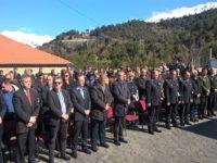 Ο Αρχηγός της ΕΛΛ.ΑΣ.  Αντιστράτηγος Κωνσταντίνος Τσουβάλας, στα εγκαίνια του νέου κτιρίου του Αστυνομικού Τμήματος Βορείων Τζουμέρκων