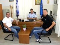 Συνάντηση μεταξύ του Εμποροβιομηχανικού Συλλόγου Ι.Π. Μεσολογγίου και του νέου Αστυνομικού Διευθυντή