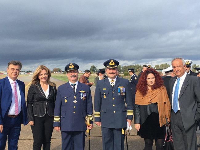 Η Αντιπεριφερειάρχης Χ. Σταρακά στην γιορτή της Πολεμικής Αεροπορίας στο Αεροδρόμιο Ακτίου