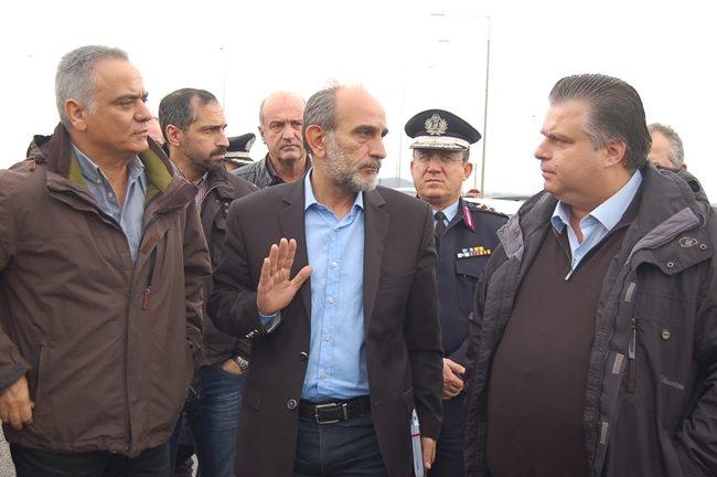 Επίσκεψη του Υπουργού Εσωτερικών στις πληγείσες περιοχές του Δήμου Ιερής Πόλης Μεσολογγίου