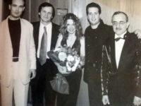 Από τη συναυλία του Χρήστου Νικολόπουλου με ερμηνευτές τους Κώστα Μακεδόνα, Ελένη Τσαλιγοπούλου και τον μαέστρο της ορχήστρας της ΕΡΤ, Χάρη Ανδρεάδη