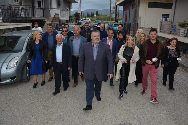 Νίκος Καραπάνος: Επισκέψεις στην οδό Ναυπάκτου και το Συνοικισμό Βίγλας