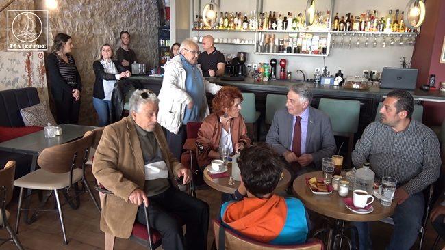 Πηγαίνουμε προς τις ευρωεκλογές αισιόδοξοι δήλωσε ο Θ. Πελεγρίνης κατά την επίσκεψή του στην Αμφιλοχία