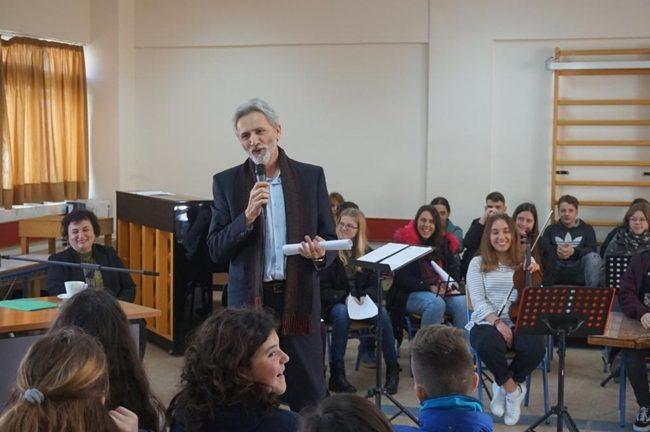 Ο συγγραφέας Γιάννης Καλπούζος στο Μουσικό Σχολείο Άρτας