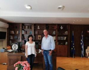 Συνάντηση προέδρου Κοινότητας Αμφιλοχίας Απ. Γώγολου με  Αντιπεριφερειάρχες Μ. Σαλμά και Α. Μαυρομάτη