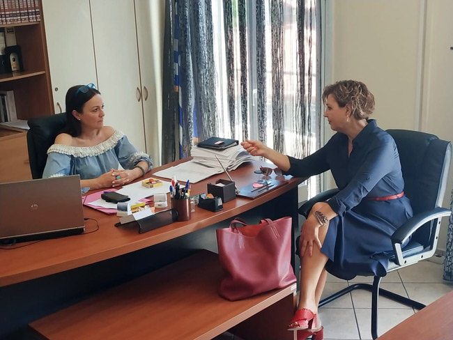 Συνάντηση Ροζίνας Βαβέτση – Όλγας Γεροβασίλη