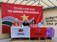 Χρήστος Κοκκινοβασίλης στην πολιτική εκδήλωση που διοργάνωσε ο ΣΥΡΙΖΑ Πάτρας στην Πλατεία Γεωργίου