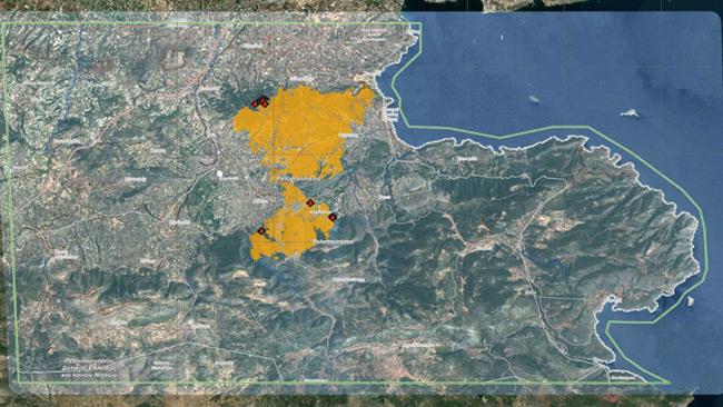 Πάνω από 32.000 στρέμματα η καμμένη έκταση στην Κορινθία