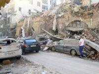 Το ωστικό κύμα καταστρέφει αυτοκίνητο εν κινήσει στη Βηρυτό