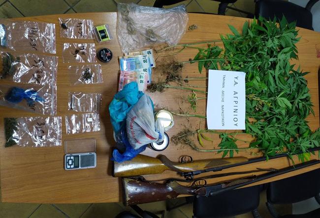 Συνελήφθη άνδρας σε χωριό της Αιτωλοακαρνανίας για καλλιέργεια και κατοχή ναρκωτικών και όπλων
