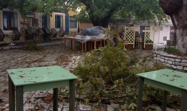 Ο «Ιανός» σάρωσε τη Λευκάδα: Σκάφη βούλιαξαν, δέντρα έπεσαν, παραλίες εξαφανίστηκαν
