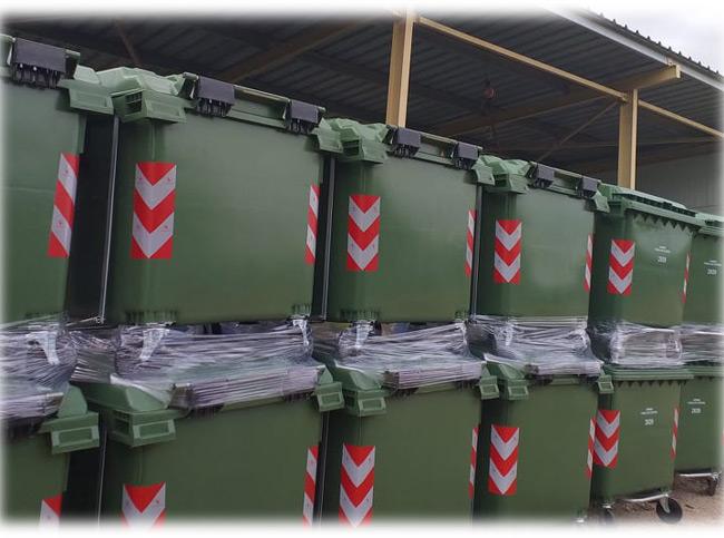 Νέοι κάδοι απορριμμάτων στο Δήμο Ν. Σκουφά