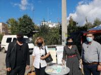 Διανομή μασκών και ενημερωτικού υλικού από την Αντιπεριφερειάρχη Π.Ε Αιτωλοακαρνανίας Μαρία Σαλμά στη Λαϊκή Αγορά Αγρινίου.