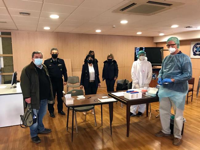 Προληπτικός έλεγχος μοριακής ανίχνευσης για τον Covid – 19 στην Αστυνομική Διεύθυνση Ακαρνανίας