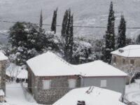 Πυκνή χιονόπτωση στον Ορεινό Βάλτο