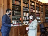 Την Πρόεδρο της Δημοκρατίας Κατερίνα Σακελλαροπούλου επισκέφθηκε ο Δήμαρχος Αγρινίου Γιώργος Παπαναστασίου.