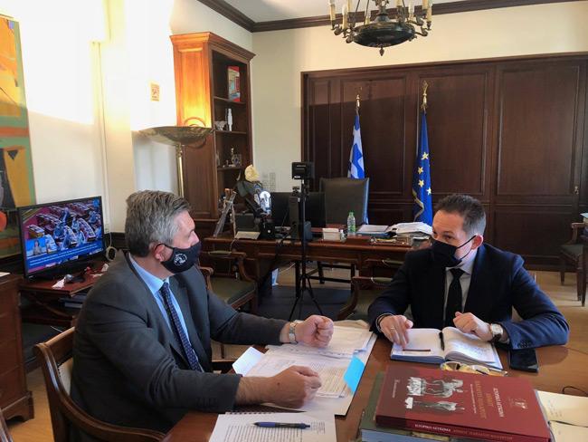 Συνάντηση του Δημάρχου Αρταίων Χρ. Τσιρογιάννη με τον Αναπληρωτή Υπουργό Εσωτερικών, Στέλιο Πέτσα