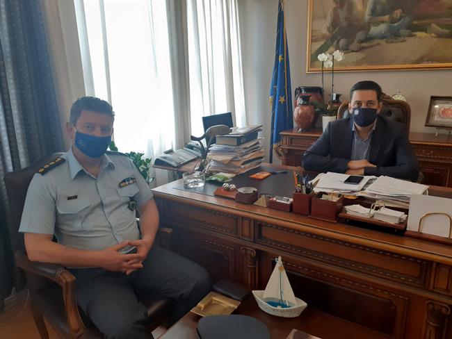 Συνάντηση Παπαναστασίου με τον Αστυνομικό Διευθυντή Ακαρνανίας Δημήτρη Γαλαζούλα
