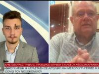 Ανησυχητική η κατάσταση σε Αιτωλικό και Μεσολόγγι- Τι λέει ο πρόεδρος του Ιατρικού Συλλόγου Αιτωλοκαρνανίας Αριστόβουλος Τριβλής