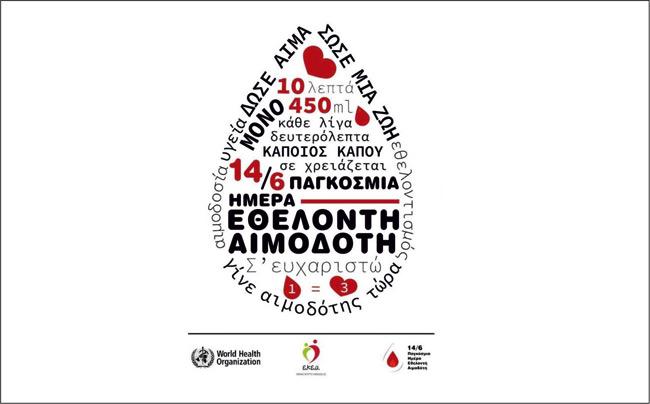 Ιατρικός Σύλλογος Άρτας – «Δώστε αίμα και κάντε τον παλμό του κόσμου να χτυπάει»