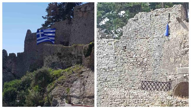 Δικογραφία για 7 άτομα στην Πάργα για καταστροφή της Ελληνικής Σημαίας από το Κάστρο