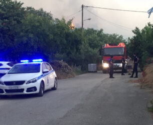 Live Μέσα από την πυρκαγιά στο Δρυμό – Εκκενώθηκαν σπίτια