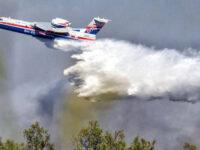 Φωτιά στην Αχαΐα: Εκκενώνεται η κοινότητα Δροσιά – «Σηκώθηκε» το Beriev-200