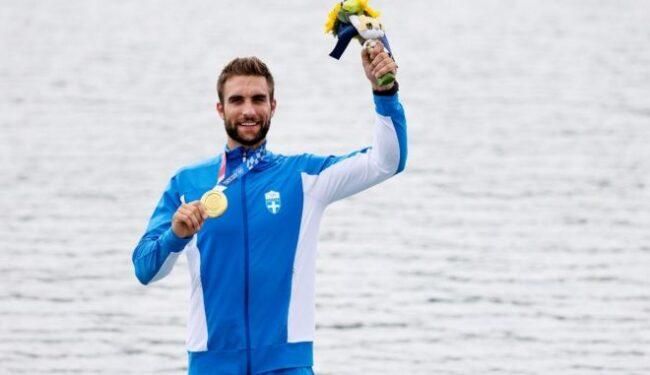 Τελετή υποδοχής του Ολυμπιονίκη Στέφανου Ντούσκου