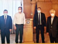 Σύσκεψη Γ. Στύλιου με τον Υπουργό Αγροτικής Ανάπτυξης και Τροφίμων κ. Λιβανό για τα προβλήματα των παραγωγών εσπεριδοειδών