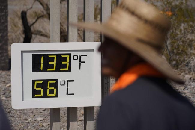 Σφοδρό κύμα καύσωνα στις ΗΠΑ: Το θερμότερο στη Κοιλάδα του Θανάτου έδειξε 56,6 βαθμούς Κελσίου